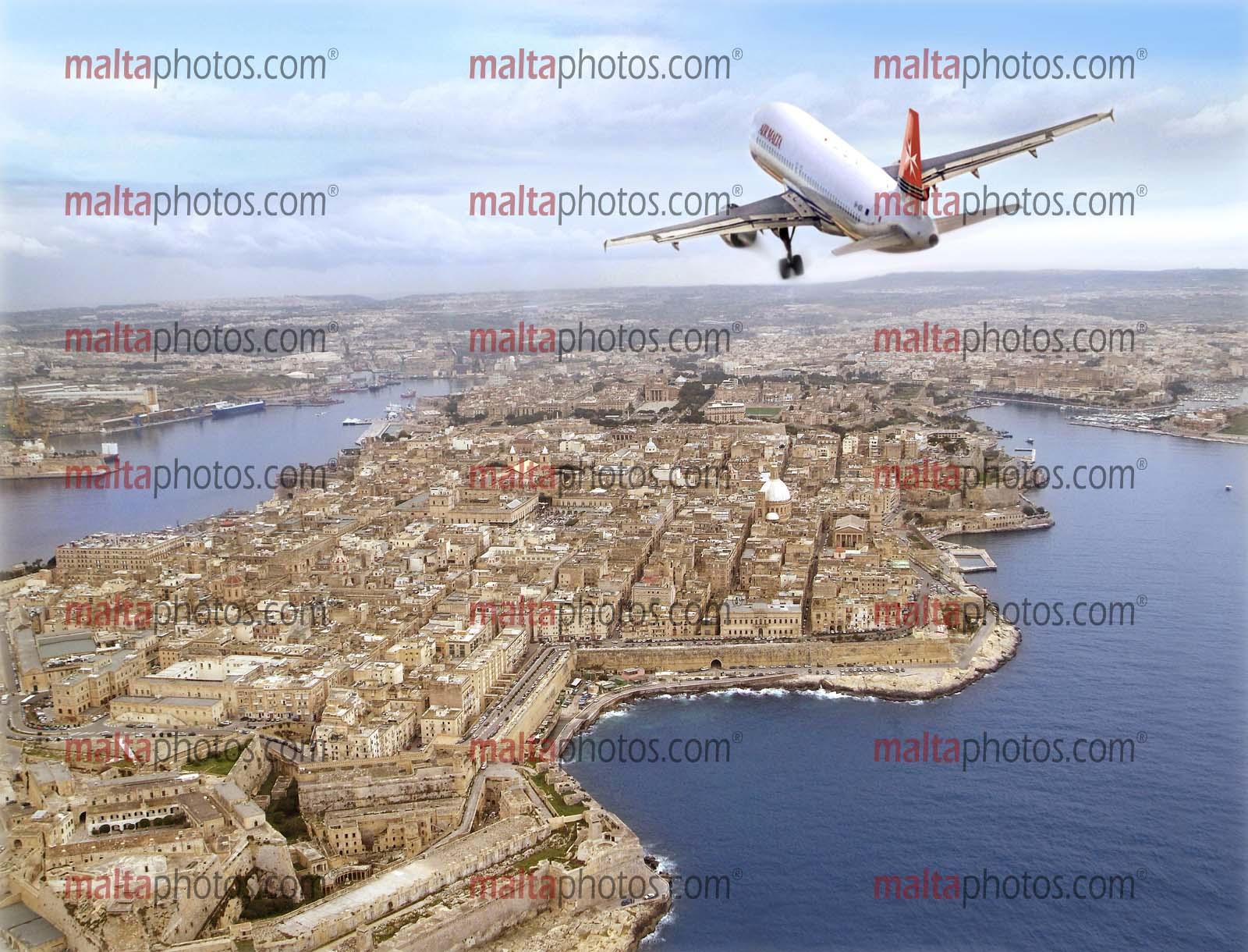 Valletta Aerial National Airline Air Malta Malta Photos