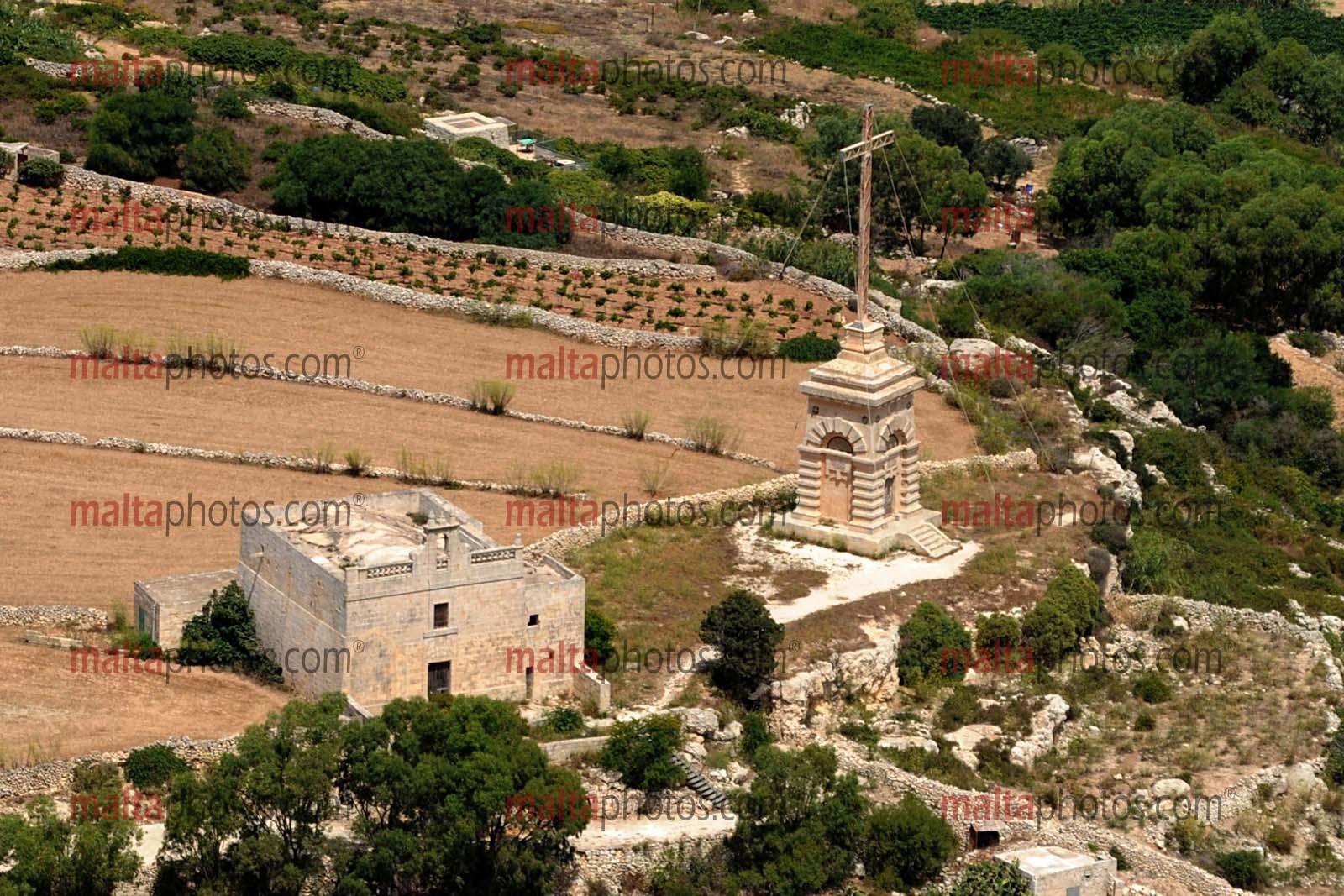 Siggiewi Aerial Laferla Cross Salib Tal Gholja Malta Photos