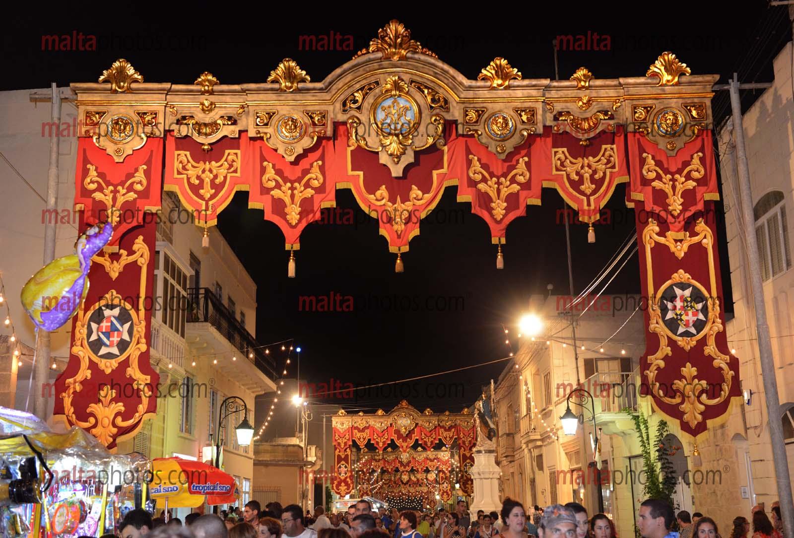 Xaghra Gozo Feast Festa Street Decorations Bandalori