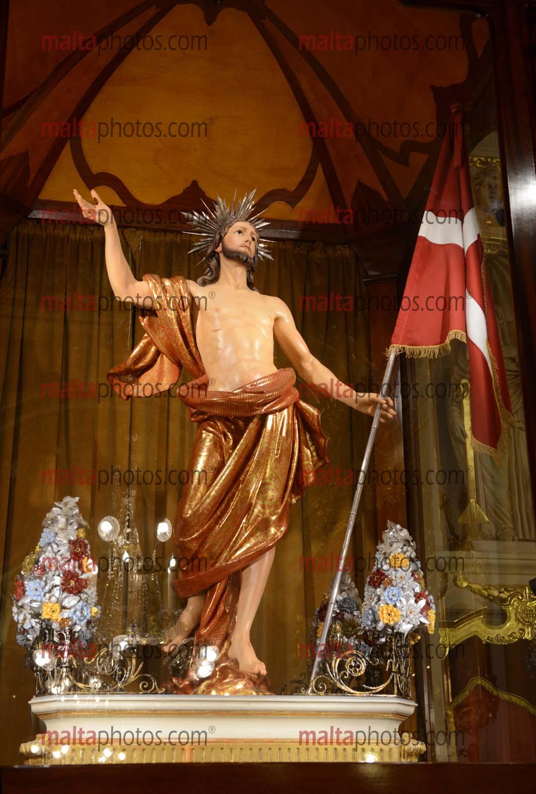 Birgu Festa Feast Kristu Rxoxt Risen Christ Statue